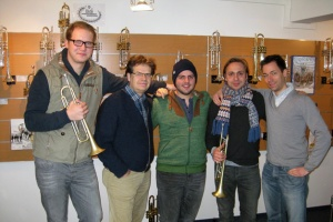 Picture (from left to right): Martin Hutter, Andreas Gafke (B&S), Peter Laib, Menzel Mutzke, Benjamin Dausch (B&S)